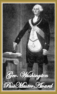 Geo. Washington Past Master Award  width=185 height=305 weight=11KB